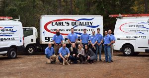 Carl's Quality HVAC Team ready for spring air conditioning maintenance