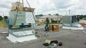 Our Install Crew Working on a Commercial HVAC System
