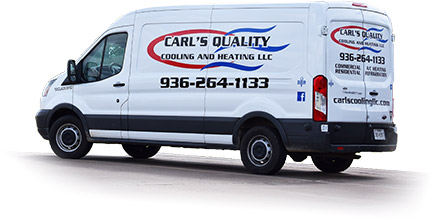 Carl's Quality HVAC Service Vehicle