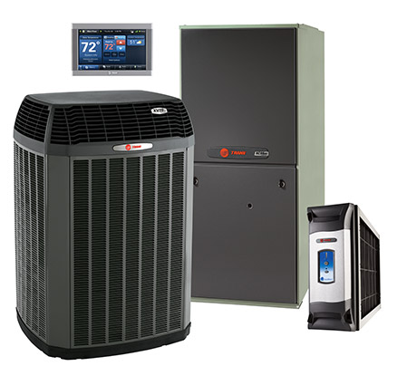 Trane Air Conditioner, Air Handler, CleanEffects and Thermostat